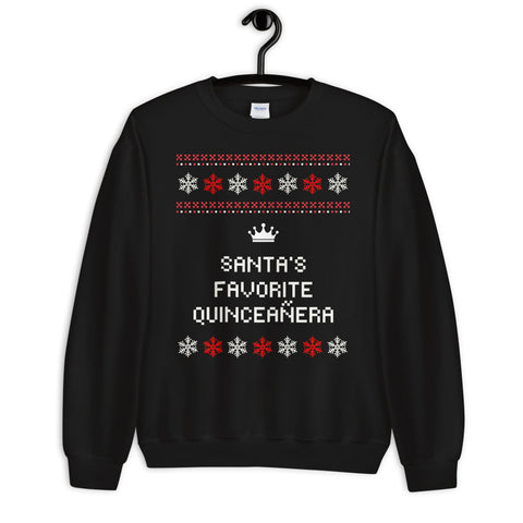 Ugly Christmas Sweater - Santa's Favorite Quinceañera