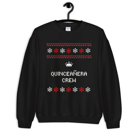 Image of Ugly Christmas Sweater - Quinceañera Crew Unisex Sweatshirt