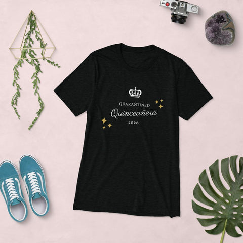 Image of Quarantined Quinceañera - Black Short Unisex sleeve t-shirt