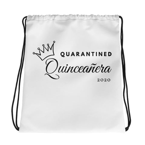 Quarantined Quinceañera - Drawstring bag