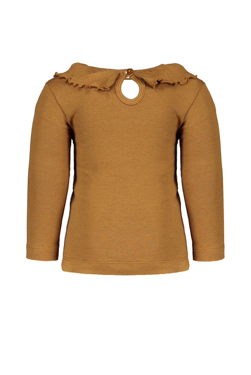 Tee Ruffle long sleeve Mustard
