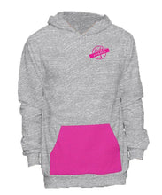 Load image into Gallery viewer, Unisex Pullover Hoodie w/ Pink Pinstripe Pocket
