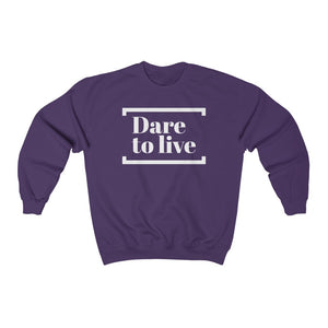 Unisex Sweatshirt - The Dare - White