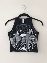 Load image into Gallery viewer, Dark Desert Highway Fitted Crop Top MADE TO ORDER