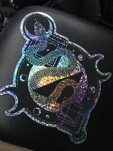 "Holographic Glitter Snake Extra Large 6"" sticker"
