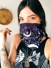 "Load image into Gallery viewer, Eyes Open Bandana - 9"" x 18"" Protective Face Covering  - Limited Edition - Headband Dreadlock Wrap"
