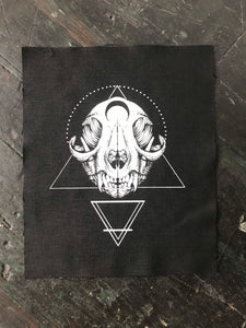 Cat Skull Patch - Medium