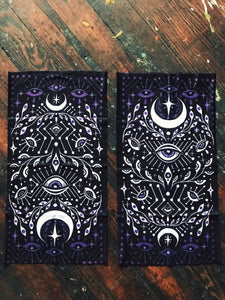 "Eyes Open Bandana - 9"" x 18"" Protective Face Covering  - Limited Edition - Headband Dreadlock Wrap"