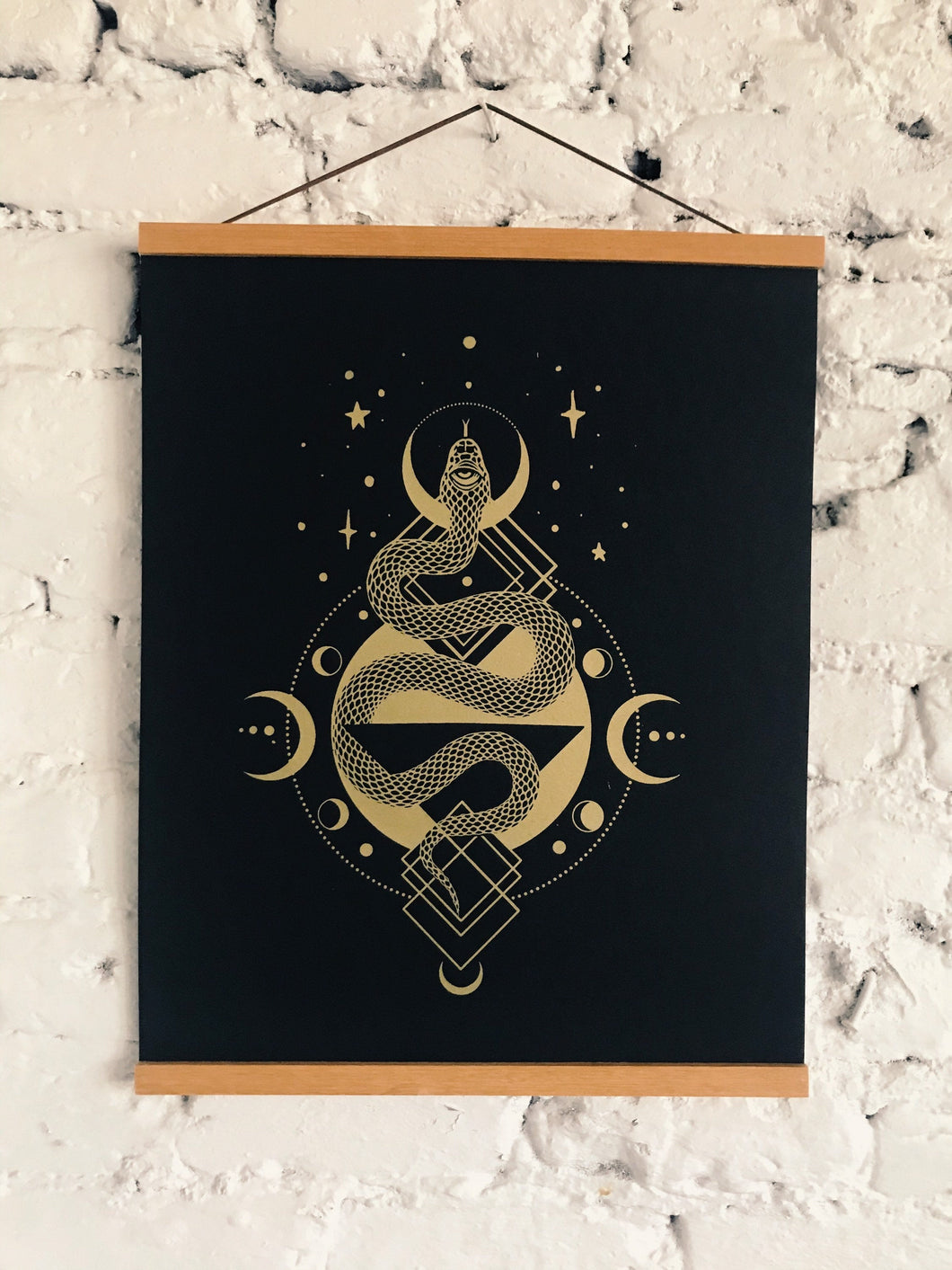 Serpent Gold Silkscreen on Black Licorice French Paper 16