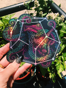 Octopus Holographic Sticker