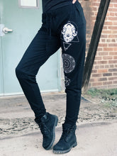 Load image into Gallery viewer, Cat Skull Sacred Geometry Joggers - Limited Edition