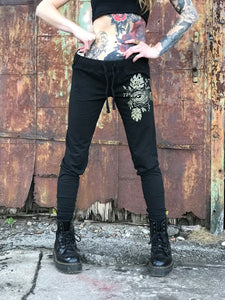Eyeball Flower Shimmery Gold Unisex Joggers - Limited Edition