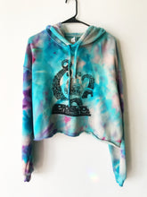 Load image into Gallery viewer, Large One of a Kind Octopus Hand Dyed Cropped Hoodie  - Size Large