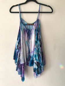 Moon Child Hand Dyed One of a Kind Off the Shoulder Flowy Top