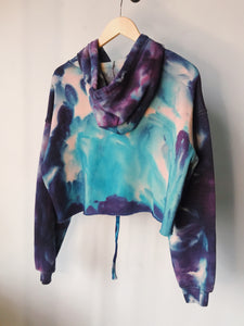 Moon Child Dyed Glow in the Dark Crop Hoodie - Size Medium