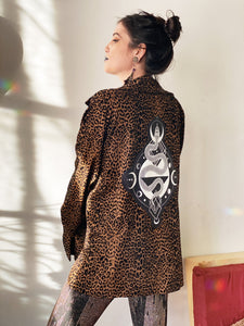 Animal Print Serpent Oversized Jacket - Xlarge