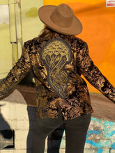 Load image into Gallery viewer, Jellyfish Unisex Velvet Metallic Blazer - Size Large