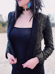 Gold Serpent Crop Jacket