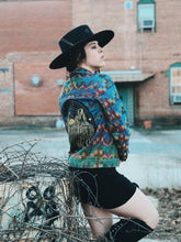 Load image into Gallery viewer, Denim Desert Rainbow Embroidered Jacket-  Small