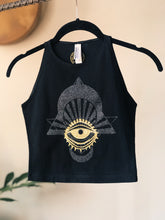 Load image into Gallery viewer, Glitter Eye Crop Top - One of a Kind - Small