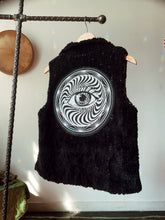 Load image into Gallery viewer, Faux Fur Sequin Leopard Vest - Size Medium
