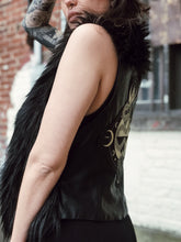 Load image into Gallery viewer, Serpent Faux fur Vegan Leather Vest