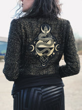 Load image into Gallery viewer, Gold Serpent Crop Jacket