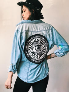 All Seeing Eye Long Sleeve Button Up - Xlarge