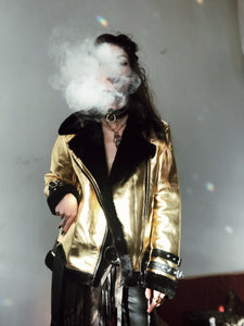 Gold Desert Faux Fur Coat