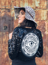Load image into Gallery viewer, Sequin Eye Crop Jacket