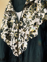Load image into Gallery viewer, Desert Black and Gold Floral Windbreaker - Size Xlarge
