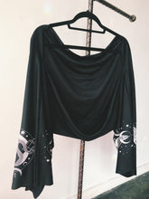 Load image into Gallery viewer, Serpent Bell Sleeve Shrug Scarf
