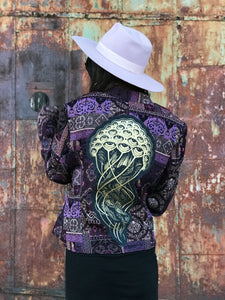 Jellyfish Gold Purple Patchwork Jacket - Medium/Large