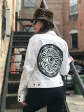 Load image into Gallery viewer, White Denim Eye Jacket
