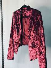 Load image into Gallery viewer, Velvet Cat Skull Crop Jacket - Size Small