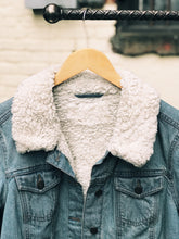 Load image into Gallery viewer, Desert Denim Jacket with Faux Fur Lining - Size Medium