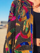 Load image into Gallery viewer, Beaded Serpent Silk Blazer - Medium