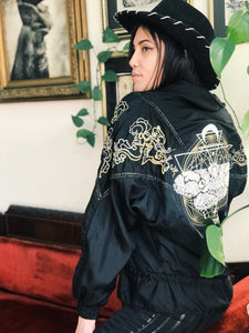 Moth Embroidered Windbreaker - Size Medium