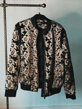 Load image into Gallery viewer, Velvet Paisley Sequin Jellyfish Bomber Jacket