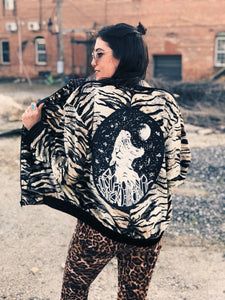 Velvet Tiger Jacket - Size small/medium
