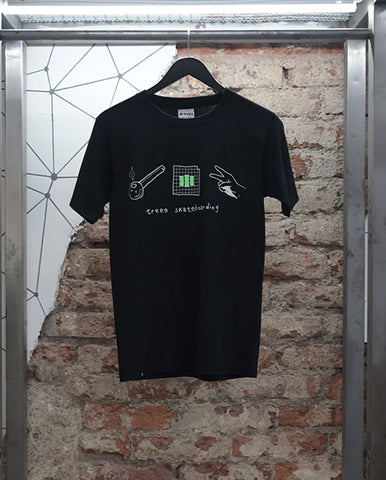TREEE T-SHIRT PIEDRA PAPEL O TIJERA LOGO GLOW IN THE DARK