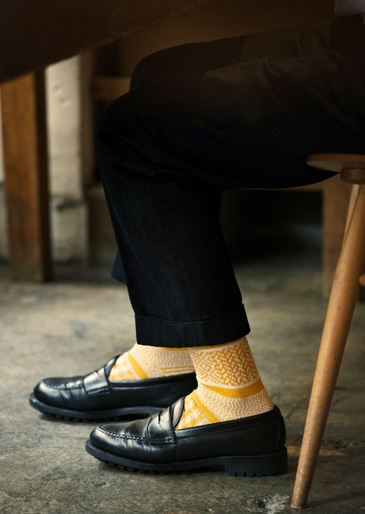 MULTI JACQUARD CREW SOCKS