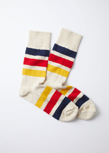 PARK STRIPE CREW SOCKS