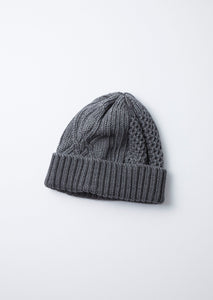 ARAN CABLE INDIGO WATCH CAP