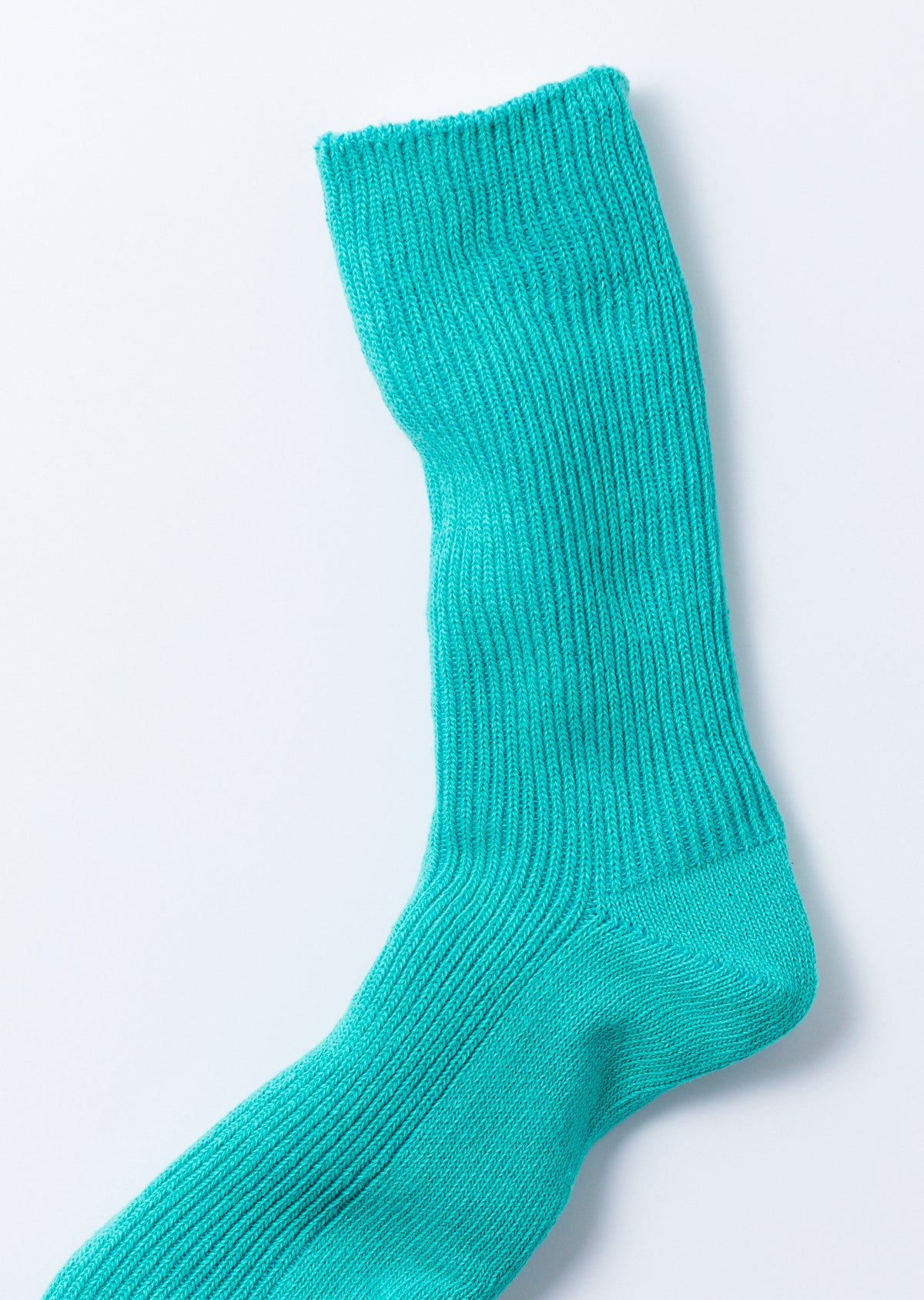 RECYCLED COTTON RIBBED CREW SOCKS