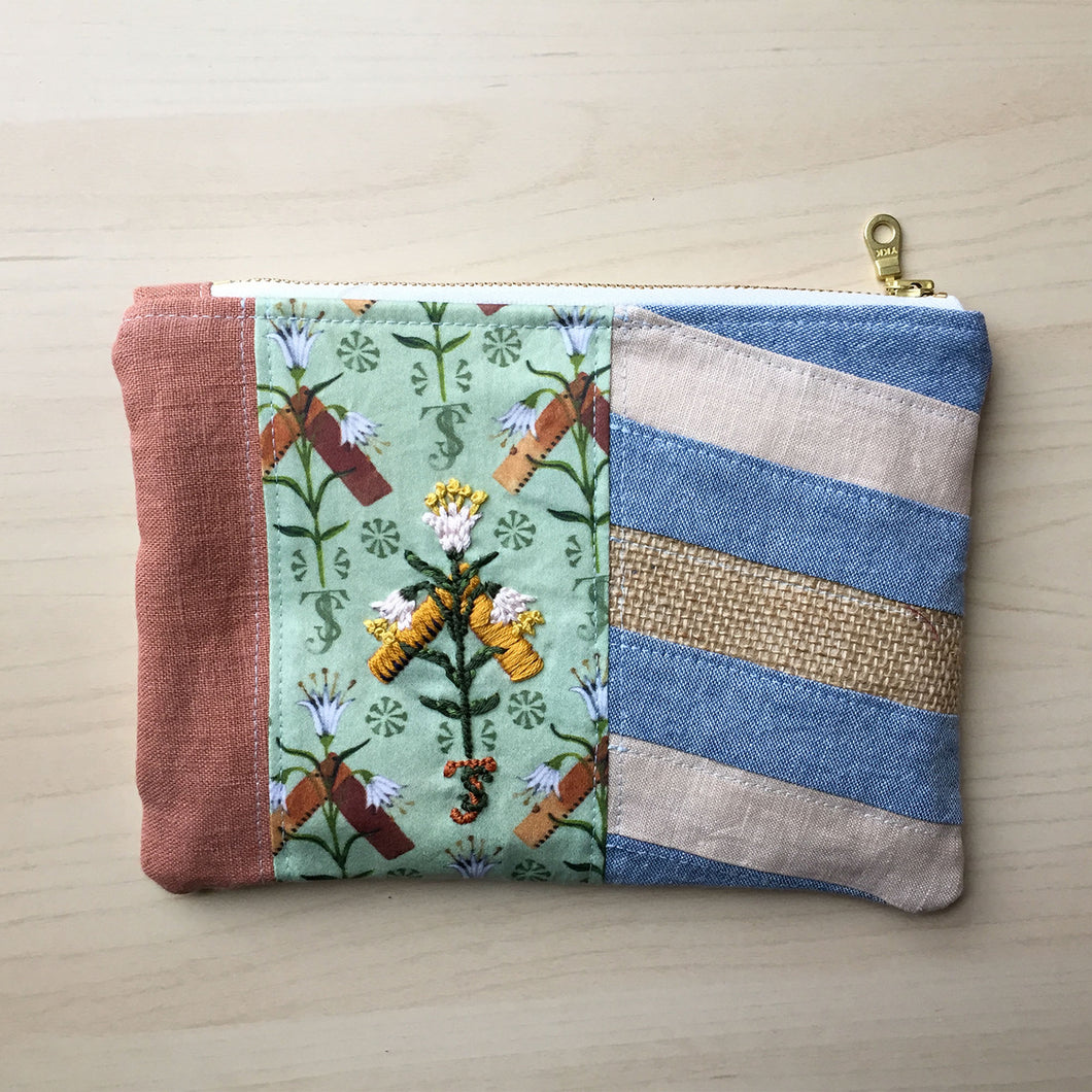Quilted Zipper Pouch - 2