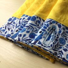 Load image into Gallery viewer, Set of 4 - Our Lady of Lourdes Napkins - Organic Linen and Cotton