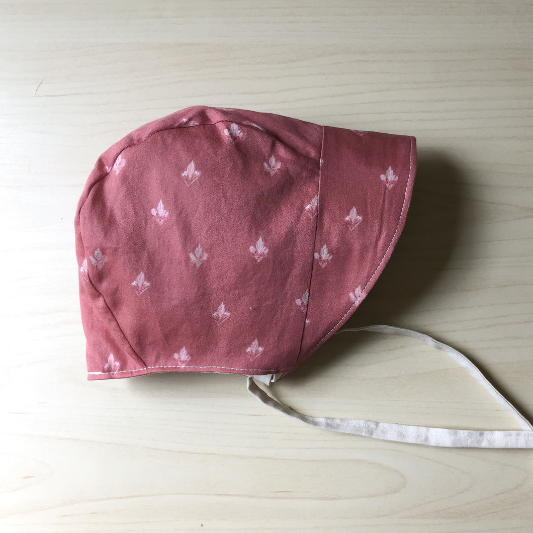 Pink Holy Family Hearts Organic Cotton Baby Bonnet