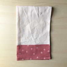 Load image into Gallery viewer, Pink Holy Family Hearts Tea Towel
