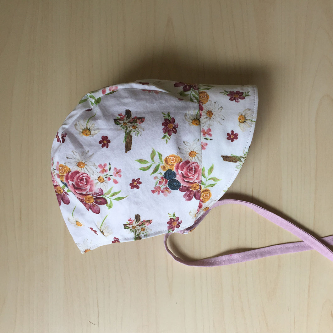 Saint Therese Organic Cotton Baby Bonnet